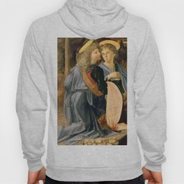 "Andrea del Verrocchio and Leonardo da Vinci ""Baptism of Christ"" - angels Hoody"