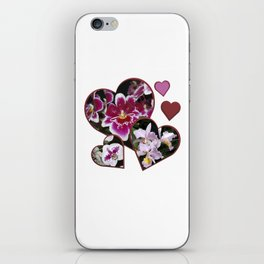 Hearts and Orchids iPhone Skin
