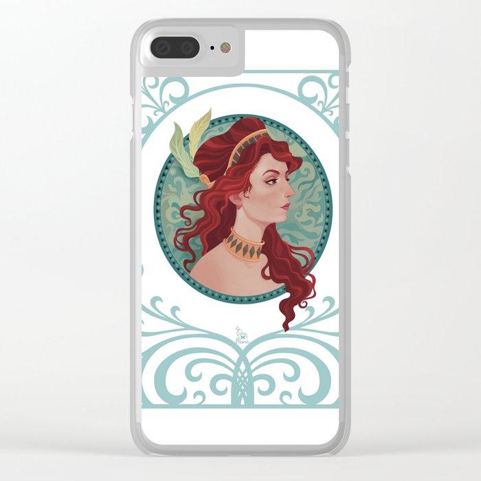 art nouveau portrait 2 Clear iPhone Case