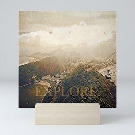 explore. golden Mini Art Print