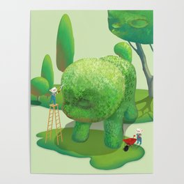The Topiary Dog Poster
