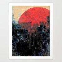 sunshine Art Prints featuring Last Sunshine by Fernando Vieira