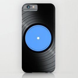 Music Record Blue iPhone Case