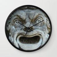scream Wall Clocks featuring scream by death above