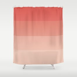 coral ombre Shower Curtain