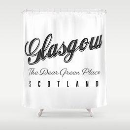 "Glasgow ""The Dear Green Place"" Scotland Shower Curtain"