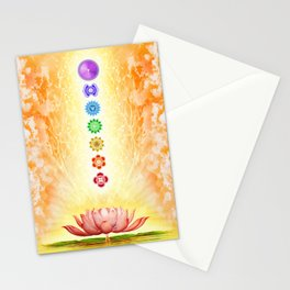 Sacred Lotus - The Seven Chakras Stationery Cards