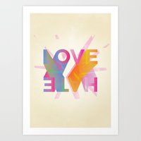 Love or Hate Art Print