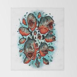 Frenzy Piranhas Throw Blanket