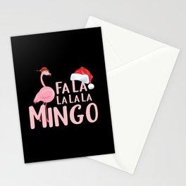 Cristmas Flamingo Santa Claus Stationery Cards