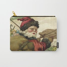 Vintage Santa retro xmas illustration Carry-All Pouch