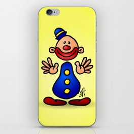 Cheerful circus clown iPhone Skin