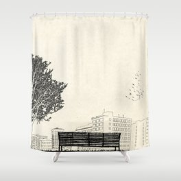 Tom's Favourite Spot — Angels Knoll Park, LA — (500) Days of Summer Shower Curtain