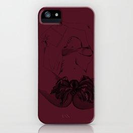 Wine vagina flower iPhone Case