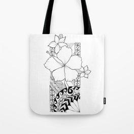 Hawaiian Style Hibiscus Tote Bag