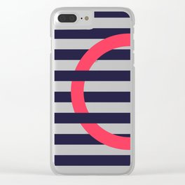 GEOMETRY RED&BLUE III Clear iPhone Case