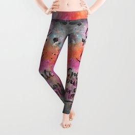 Create Magic handlettering colorful watercolor art Leggings