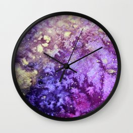 Touch of Gold_Violet Wall Clock