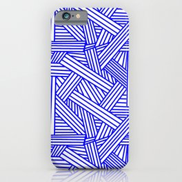 Sketchy Abstract (Blue & White Pattern) iPhone Case