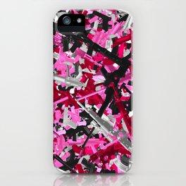 Pink guns camo iPhone Case