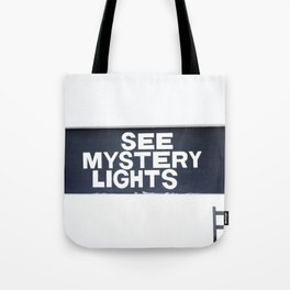 See Mystery Lights Marfa Tote Bag