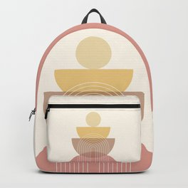Abstraction Shapes 1 in Neutral Shades (Rainbow, Sun and Moon Phases) Backpack