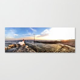 On the Shore Panorama Canvas Print