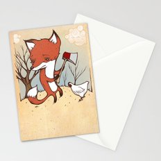 Fox and Chicken Stationery Cards