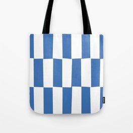 Modern royal blue and white trendy checker pattern Tote Bag