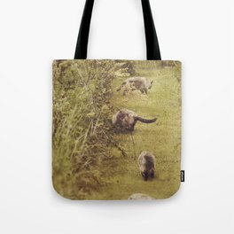 Garden Cat Stroll Tote Bag