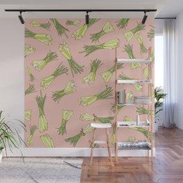 Lemongrass in Pink Wall Mural