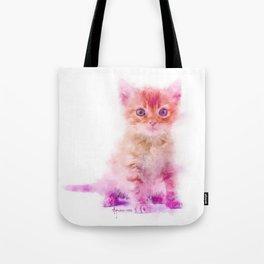 Curiosity of Color - A Kitten Portrait Tote Bag