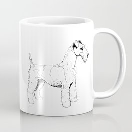 Wire Haired Fox Terrier Ink Drawing Coffee Mug