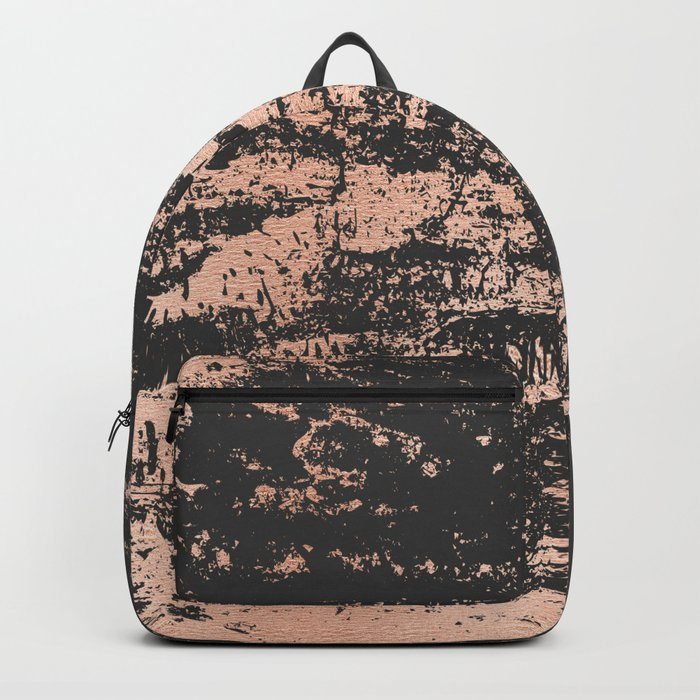 a7d26aa06 Marble Black Rose Gold - Dope Backpack by hiawol | Society6
