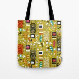 tiki yellow Tote Bag