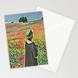 Artist In The Cornfield Stationery Cards