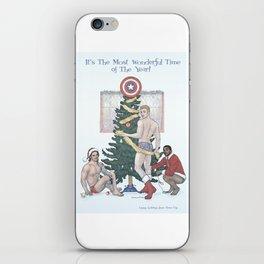 Team Cap Nice Pinup Holiday Card iPhone Skin