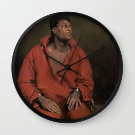 African American Masterpiece The Captive Slave by John Philip Simpson Wall Clock