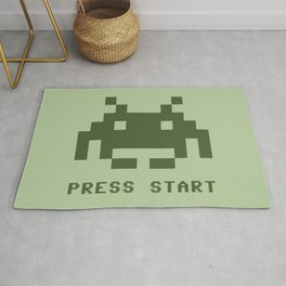 Space invader monochrome Rug