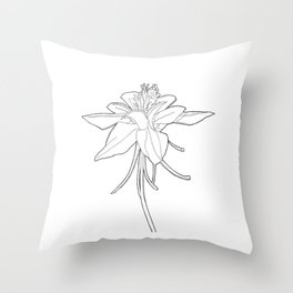 columbine flower Throw Pillow