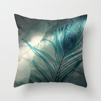 mortal instruments Throw Pillows featuring Vigilant Mortal by KunstFabrik_StaticMovement Manu Jobst