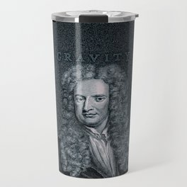 Gravity / Vintage portrait of Sir Isaac Newton Travel Mug