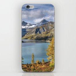 Autumnal glimpse of mountain lake iPhone Skin