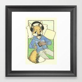 Kaylah The Fox Who Loves Music Framed Art Print