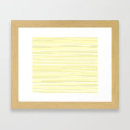 Yellow Striped Handmade Dancing lines Framed Art Print