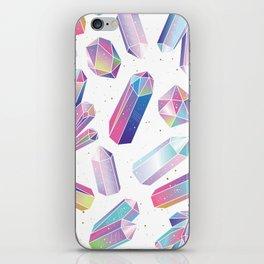 Purple Crystals iPhone Skin