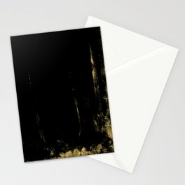 Black and Gold grunge modern abstract background I Stationery Cards