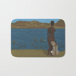Woman & Cheetah Bath Mat