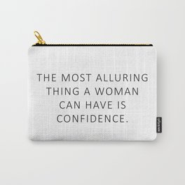 Queen Bey Quote - Confidence Carry-All Pouch