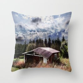 Broken house Throw Pillow